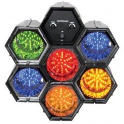 Kolorofon dyskotekowy oświetlenie sceny sześciokanałowy 6 x 47 LED BeamZ