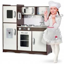 Kuchnia drewniana zabawkowa kuchenka dla dzieci piekarnik lodówka