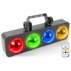Kolorofon do zwieszenia na statywie BeamZ PRO DJ LED 4x3W RGBA z pilotem