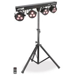 Oświetlenie sceny zestaw oświetleniowy Max 4 x LED PAR BAR dyskotekowe światła
