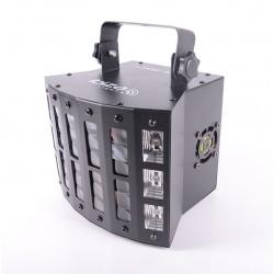 Efekt świetlny reflektor UV Ibiza Derby-UV-Strobe 3-in-1 stroboskop oświetlenie