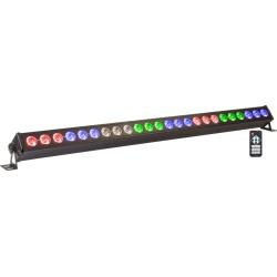 Belka oświetleniowa LED BAR RGBW Ibiza LEDBAR24-RC efekt sceniczny podświetlenie ściany