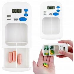 Organizer na leki pojemnik tabletki elektroniczny przypominacz z alarmem