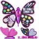 Zestaw do makijażu zabawkowy motyl dla dzieci kosmetyki do malowania