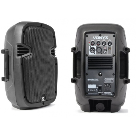 """Aktywna kolumna Vonyx SPJ800A 8"""" 200W nagłośnienie ze wzmacniaczem"""