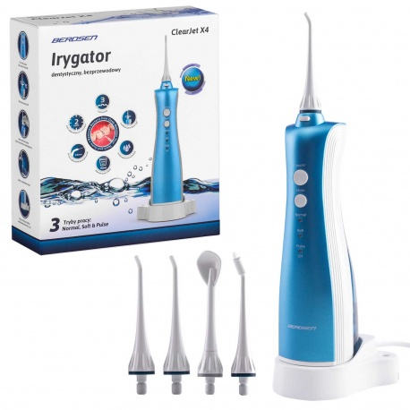 Irygator do zębów dentystyczny bezprzewodowy Berdsen ClearJet X4 timer