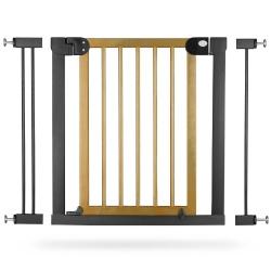 Bramka zabezpieczająca Ricokids brama z drzewna i metalu bezpieczeństwa do futryny na schody i drzwi