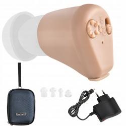 Aparat słuchowy wzmacniacz douszny akumulatorowy regulacja głośności
