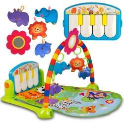 Mata edukacyjna dla niemowląt Ricokids miękka pluszowa pianino podwieszane zabawki grzechotki