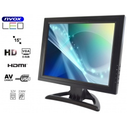 Monitor samochodowy 15 cali Digital LCD GRADE A+ złącze VGA oraz HDMI 12 i 230V