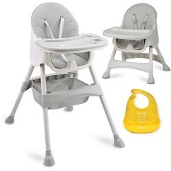 Krzesełko do karmienia ze stolikiem 3w1 Ricokids regulowana taca koszyk