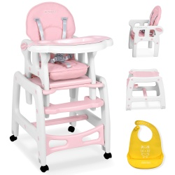 Krzesełko do karmienia 5w1 osobne krzesło i stolik bujaczek dla dzieci pasy bezpieczeństwa