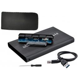 """Obudowa dysku HDD aluminium 2,5"""" USB 3.0 SATA z pokrowcem skórzanym"""