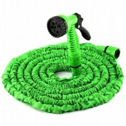 Wąż ogrodowy elastyczny rozciągliwy 10-30 metrów HQ pistolet 7 dysz zraszacz