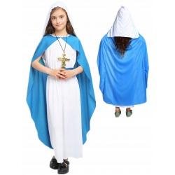 Kostium Maryji strój przebranie dla dziecka Matka Boska Maryja na jasełka 6-12 lat