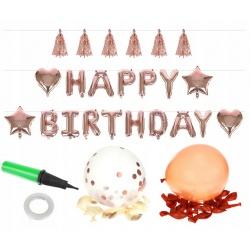 Akcesoria urodzinowe balony zestaw na urodziny frędzle dekoracje urodzinowe
