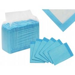 Podkład higieniczny chłonny 60x45cm jednorazowy paczka 50 sztuk