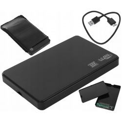 Obudowa dysku twardego 2,5' HDD USB 3.0 kieszeń SATA UASP z pokrowcem skórzanym