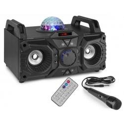 Przenośny odtwarzacz muzyki Boombox z efektem świetlnym Bluetooth Fenton KAR100