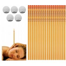 Świece do uszu świecowania ucha 20 sztuk podstawka 10 par na stres dla relaksu
