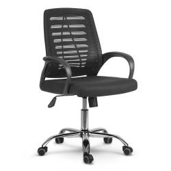 Fotel biurowy krzesło obrotowe mikrosiatka mechanizm TILT gumowane kółka oddychający materiał
