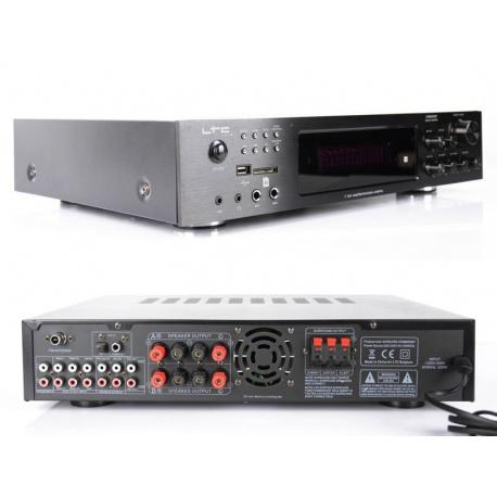 Wzmacniacz mocy LTC z tunerem FM 4x75 W + 3x20W MP3 USB BLUETOOTH