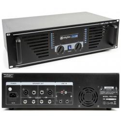 Wzmacniacz mocy PA 2 x 500W SKY-1000 czarny Rack 19 Speakon