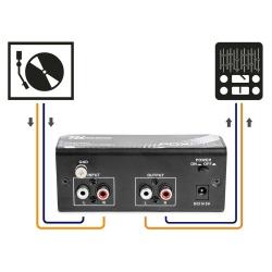 Przedwzmacniacz gramofonowy Power Dynamics PDX010 korektor RIAA