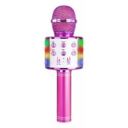 Mikrofon karaoke bezprzewodowy odtwarzacz muzyki Bluetooth głośnik światła LED