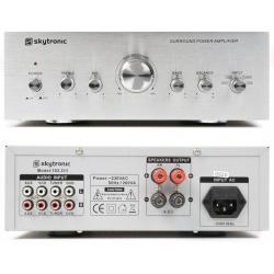 Wzmacniacz stereo do domu 2 x 50W Skytronic 4 wejścia liniowe RCA