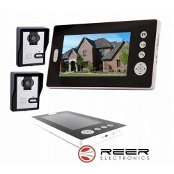 Wideodomofon bezprzewodowy z 2x kamerą LED i ekranem LCD 7 cali Reer Electronics
