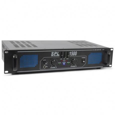 Wzmacniacz SkyTec SPL1500 moc 2x750 W korektor 3 pasmowy equalizer