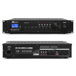 Wzmacniacz instalacyjny do systemów PA z mikserem 100V 240W PRM240