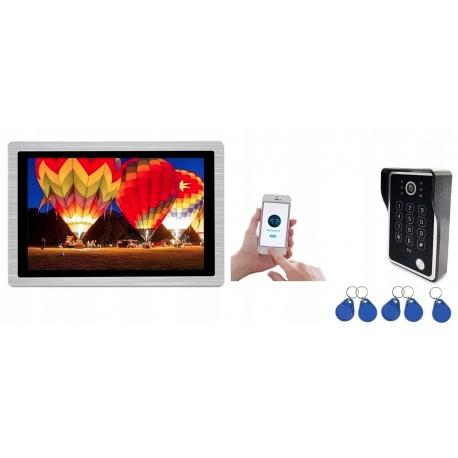 Wideodomofon przewodowy z kamerą 1080p ekran 10 cali Reer Electronics sterowanie bramką pastylki WiFi aplikacja