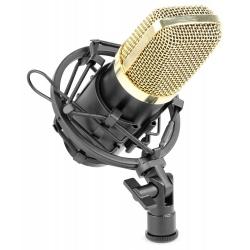 Mikrofon pojemnościowy Vonyx CM400B Studio czarno złoty Vintage phantom