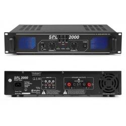 Wzmacniacz mocy 2 x 1000W Skytec SPL 2000 korektor dźwięku 3 wejscia RCA