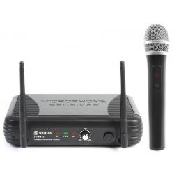 Zestaw mikrofonowy UHF Skytec STWM721 mikrofon bezprzewodowy stacja