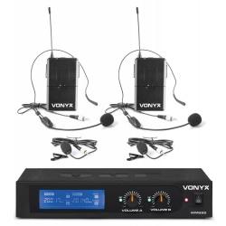 Zestaw mikrofonów nagłownych VHF Vonyx WM522B 2 x mikrofon nagłowny