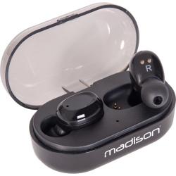 Słuchawki dokanałowe Bluetooth Stereo Madison ETWS150-BK douszne