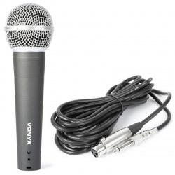 Mikrofon dynamiczny doręczny przewodowy Vonyx DM58 przewód 5 metrów jack
