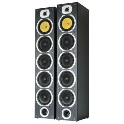 Zestaw kolumn Skytronic SHFT57B 4-drożne kolumny głośnikowe Tower 2 x 600W