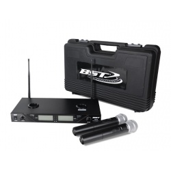 Zestaw mikrofonowy BST UDR208 2 x mikrofon doręczny pasmo UHF ładowarka