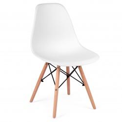 Krzesło skandynawskie oparcie tworzywo bukowe nogi wytrzymała konstrukcja