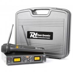 Bezprzewodowy zestaw mikrofonowy Power Dynamics PD782 dwa mikrofony