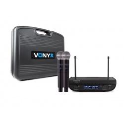 Zestaw mikrofonów bezprzewodowych UHF 2x mikrofon doręczny Vonyx WM82