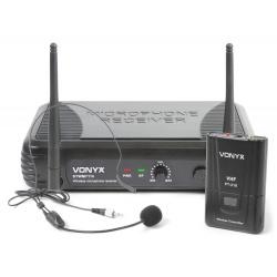 Mikrofon nagłowny bodypack bezprzewodowy na baterie Vonyx STWM711H