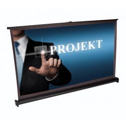 Ekran projekcyjny mobilny do preznetacji na biurko ze stojakiem 50'' LTC PST50