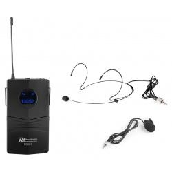Zestaw mikrofonowy bodypack mikrofon nagłowny i krawatowy PD PD504BP