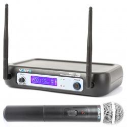 Bezprzewodowy mikrofon doręczny na baterie 2 x AA zestaw Vonyx WM511
