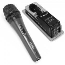 Mikrofon dynamiczny doręczny Fenton DM105 przewodowy kabel XLR 3 metry